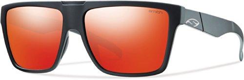 Smith Optics Edgewood Sunglasses, Matte Black Frame, Red Sol-X Carbonic Tlt Lenses