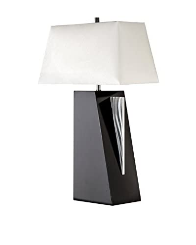 Nova Lighting Edge Table Lamp, Black