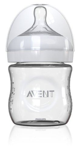 Philips AVENT 4 Ounce Natural Glass Bottle, 1-Pack