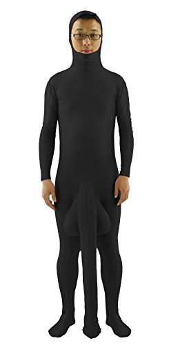 JustinCostume Men's Big Dick Costume Zentai Suit Funny Halloween Costumes