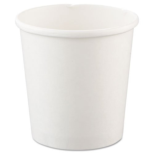SOLO Cup Company Flexstyle Double Poly Paper Containers, 16 oz, White, 25/Pack - Includes 500 containers per case, 25 per pack.