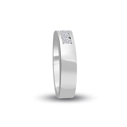 0.60 carat Diamond Half Eternity Ring for Women. G/SI1 Round Brilliant Diamonds in Channel Setting in 18ct White Gold