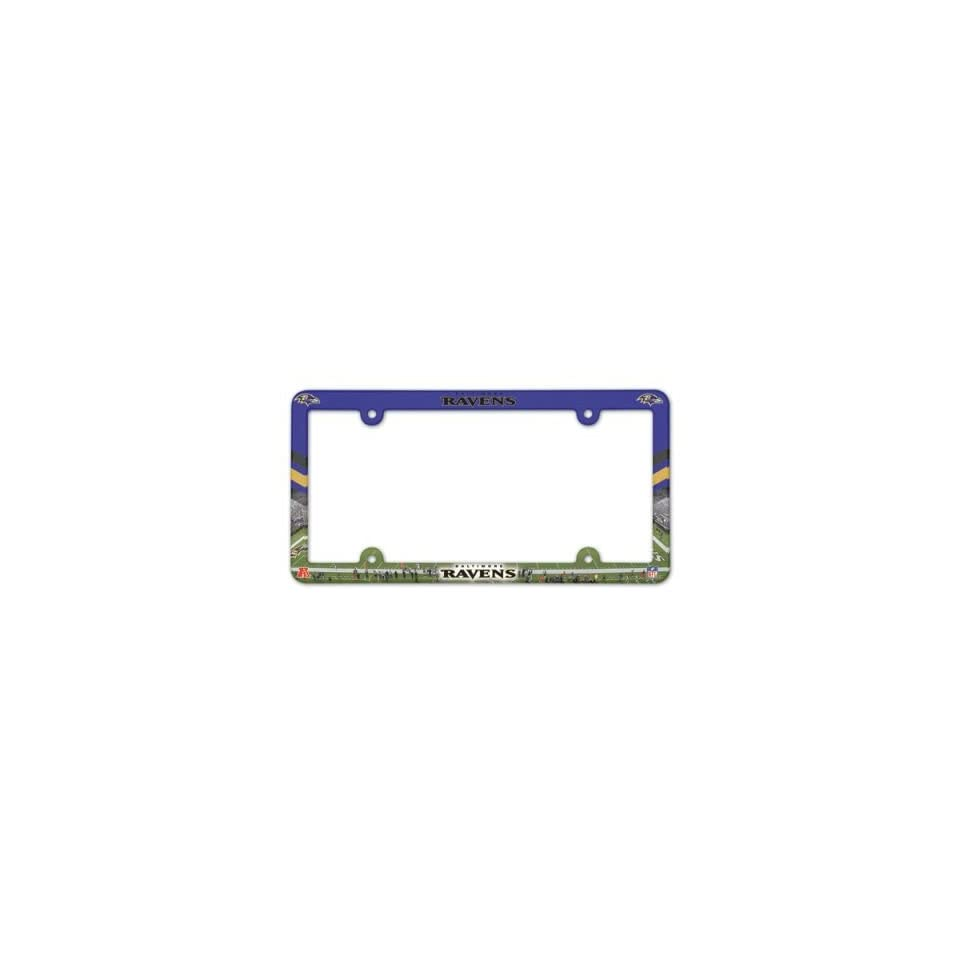 License Frame Baltimore Ravens Full Color Plastic License Frame Nfl Fan National Football League American Game Decoration Accessories