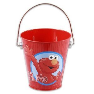 Elmo Red Bucket for Play in the Sand, Indoors or Backyard - 1