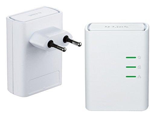D-Link DHP-509AV Powerline AV500 HD, 1 Porta Ethernet, fino a 500 Mbps, Risparmio Energetico, Plug&Play per una Facile Configurazione, Kit con 2 Adattatori