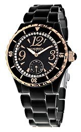 Haurex Italy Makeup Crystals Black Dial Women's watch #PN342DNH