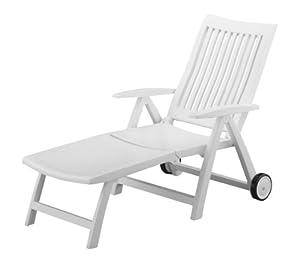 Kettler roma sdraio a rotelle con supporto in plastica - Sdraio in plastica da giardino ...