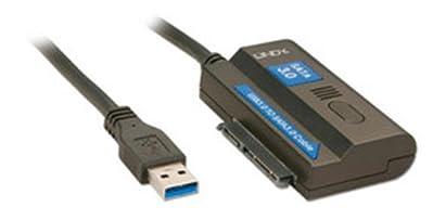 Lindy - 43119 - Adattatore Da Usb 3.0 a Sata III Versatile alternativa al box esterno per Hard Disk
