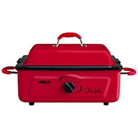 Nesco 4805-12 5-Quart Electric Roaster, Red