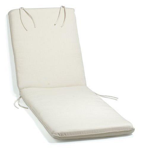 Oxford Garden Chaise Lounge Cushion, Natural