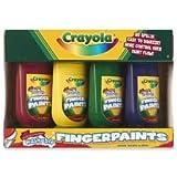 Washable Fingerpaints 4 Oz: 4 Colors