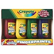 Amazon.com: Washable Fingerpaints 4 Oz: 4 Colors: Toys & Games