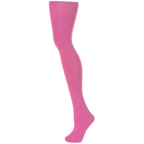 Alan Sloane Solid Colored Tights - Hot Pink-XL (Womens Extra Large Tights compare prices)