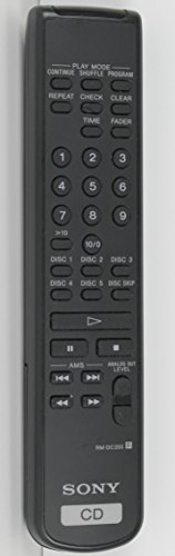 Sony RM-DC355 5-CD Changer Player Remote Control for CDCPE345, CDDCE345, CDPC5CS, CDPCC275, CDPCD275, CDPCE245, CDPCE275, CDPCE3, CDPCE335, CDPCE345, CDPCE375, CDPDE345, CDPE345 (Sony Cd Player Remote compare prices)