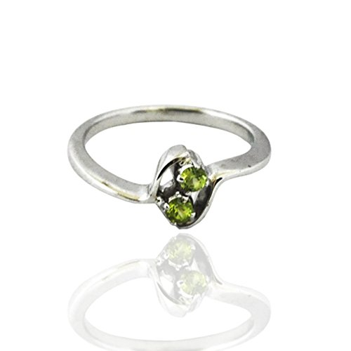 925 Sterling Silver Peridot Gem Stone New Designs Rings