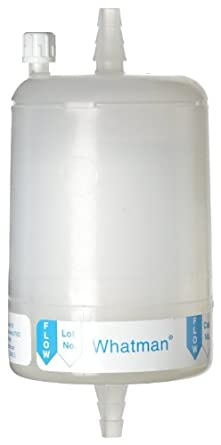 """Whatman 6701-7510 Polycap 75 TF PTFE Membrane Capsule Filter with 1/2"""" SB Inlet and Outlet, 60 psi Maximum Pressure, 1.0 Micron"""