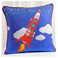Swayam Kids N More Digital Print Mercerised Cotton 2 Piece Kids Cushion Cover Set - Multicolor (KCC 122-129)