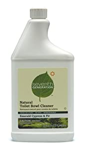 Seventh Generation Toilet Bowl Cleaner, Emerald Cypress & Fir Scent, 32-Ounces Bottle (Pack of 8)
