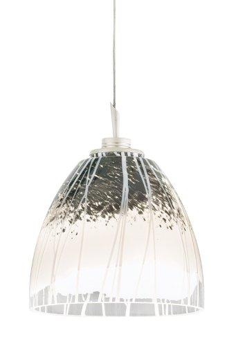 Juno Lighting Group P47Mp3La2-Stn-Blz Fargo 3-Light 12V 2700K Led Multi-Point Pendant, Blizzard Art Glass Shades And Satin Nickel Finish