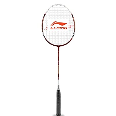 Li-Ning Power 1500 G-Force Carbon Fiber Badminton Racquet, Size S2 (Red/White)
