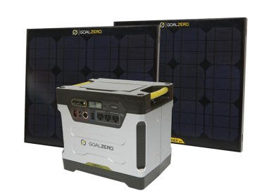 Goal Zero Yeti 1250 Solar Generator Kit w/ 2x Boulder 30 Solar Panels & Cart