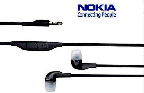 Genuine Nokia Wh-205 Stereo Ear Plug Headset [ Sealed In Nokia Blister Pack ] 3.5 Mm Head Phone Jack / Standard Mp3 Headphone Jack