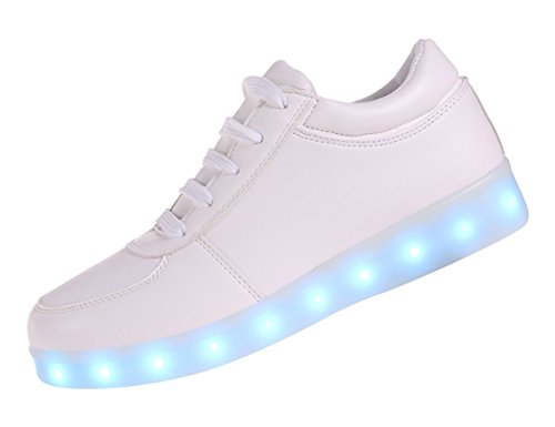 Another Summer 7 Colors LED Luminous Shoes Unisex Sneakers Men & Women Sneakers USB Charging Light Shoes Colorful Glowing Leisure Flat Shoes(5.5D(M) US)