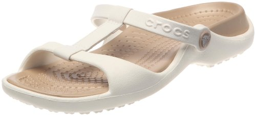 Crocs Women's Cleo Iii Oyster/Gold Slides Sandal