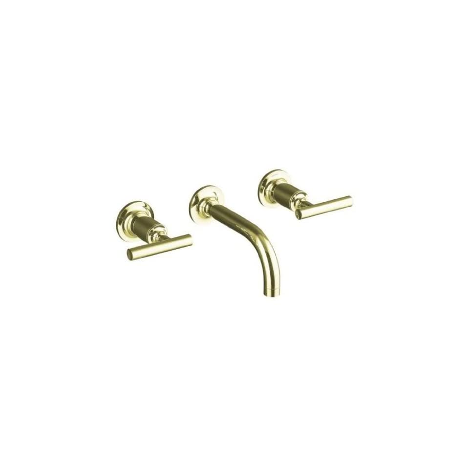 Kohler Purist French Gold Wall Mount Bathroom Sink Faucet