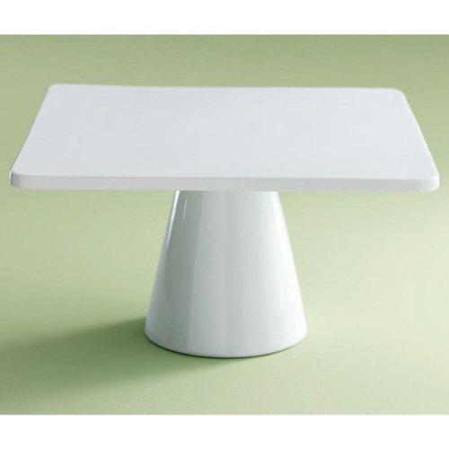 Tag Whiteware Porcelain Ceramic Square Pedestal Cake Plate Large 14-Inch White  sc 1 st  Cupcake Stands For Sale & Cupcake Stands For Sale: Tag Whiteware Porcelain Ceramic Square ...