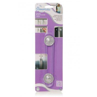Dreambaby Flexible Multi-Purpose Safety Latch - Silver (Dreambaby Glass Cabinet Latch compare prices)