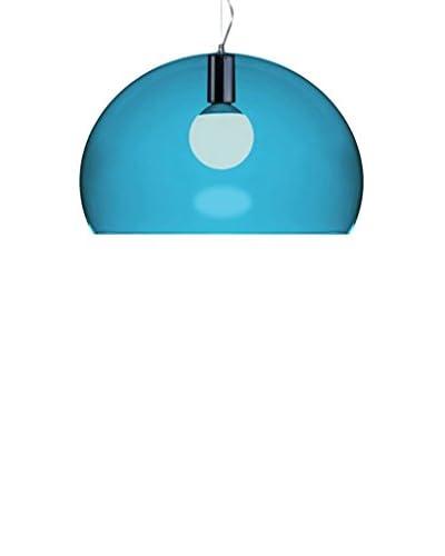 Kartell Lámpara De Suspensión Fl/Y Small Azul Petróleo Ø 38 cm H 28cm H min÷max: 40÷232cm