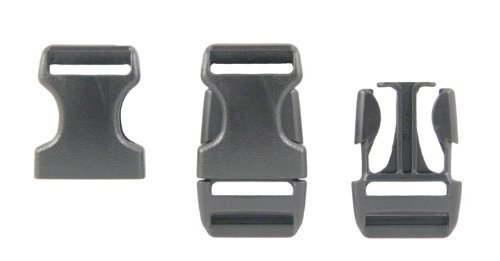 "Purchase 25 - 1"" Duraflex Stealth Plastic Buckles Purses Webbing"