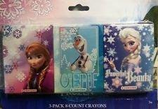 Disney Frozen 3 Pack 8 Count Crayons (Anna, Olaf, & Elsa Powerful Beauty)