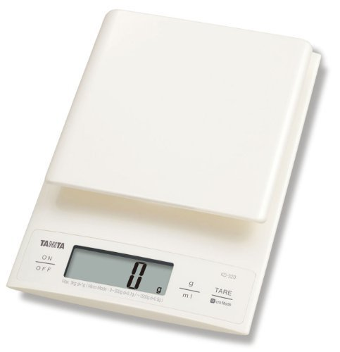 Tanita KD320WH33 Kitchen Scales 3 kg with 0.1 g Fine Increments by Tanita