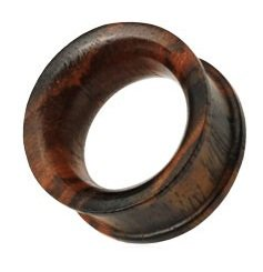 8mm Organic Sono Wood Concave Double Flat Flared Ear Plug Flesh Tunnel