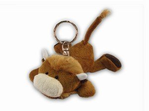 Puzzled Buffalo Plush Keychain