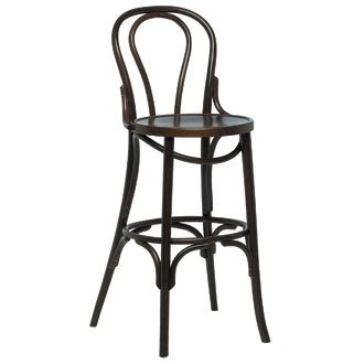 Kitchen / Breakfast Bar Chairs - Bentwood Bistro Highstool (Walnut) (Pack 2) - stylish and robust furniture for your home or business