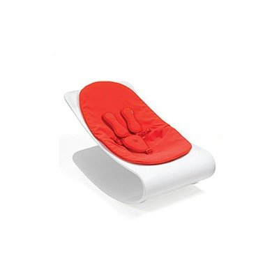 White Coco Plexistyle Baby Lounger in Rock Red