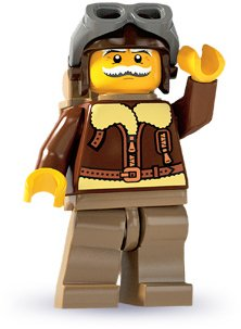 Lego: Minifigures Series 3 Old Timer Pilot Mini-Figure - 1