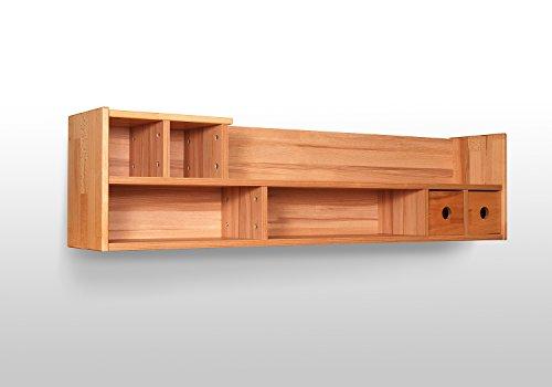 wanboard h ngeboard regal b cherregal kernbuche teilmassiv ge lt lenz 33 l nge 120 cm ean. Black Bedroom Furniture Sets. Home Design Ideas