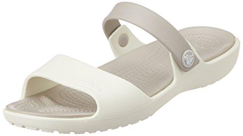 Crocs New Cleo Sandal W Sandali a punta aperta, Donna, Bianco (Oypt), 37/38