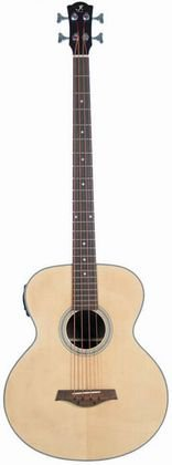 J Reynolds JR1000 4-String Acoustic-Electric Bass Guitar