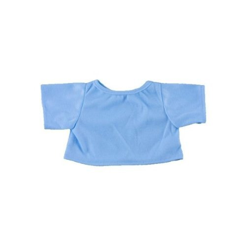 "Light Blue T-Shirt Outfit Teddy Bear Clothes Fit 14"" - 18"" Build-a-bear, Vermont Teddy Bears, and Make Your Own Stuffed Animals - 1"