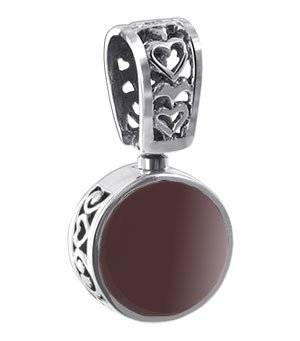 BDPS111 14 MM Round Red Stone and Vintage Style 1
