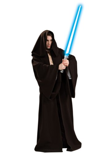 Rubies Mens Star Wars Jedi Robe Super Deluxe Movie Character Costume