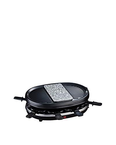 H.KOENIG Raclette-Grill Piedra Natural 8 Personas RP80 Negro