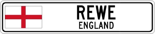 rewe-england-flag-city-sign-6x24-quality-aluminum-sign