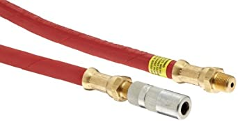 "Alemite B6703-A Grease Gun Hose, 12"" Length, 4,800 psi Working Pressure, Use with Coupler 308730 & Hose 317850-1, 1/8"" NPTF"
