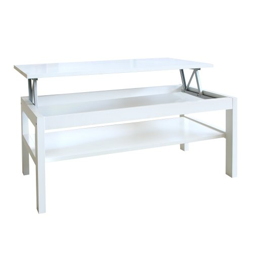 Table basse blanche relevable fly for Fly table basse relevable